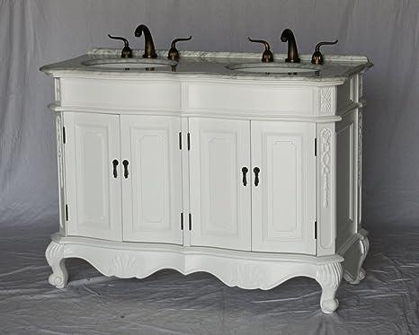 Amazon Com 50 Inch Antique Style Double Sink Bathroom Vanity Model 5000 Wk Kitchen Dining
