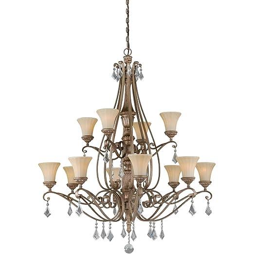 Amazon.com: Chandeliers - 12 lámparas de techo con acabado ...