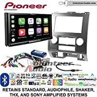 Volunteer Audio Pioneer AVH-W4400NEX Double Din Radio Install Kit with Wireless Apple CarPlay, Android Auto, Bluetooth Fits 2008-2012 Ford Escape, Mazda Tribute, Mercury Mariner