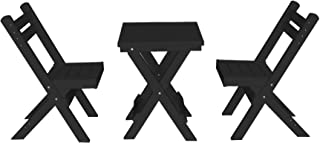 product image for Amish Poly Coronado Square Folding Bistro Set (Black)