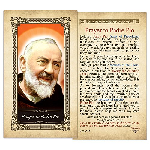 - Padre Pio Laminated Holy Card