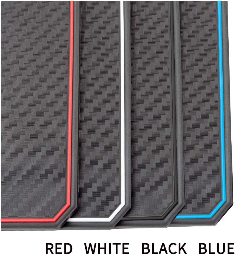 Carbon Fiber Pattern - red Door JIECHEN Custom Fit Cup and Console Liner Accessories for Toyota Rav4 2019 2020 13PC Set