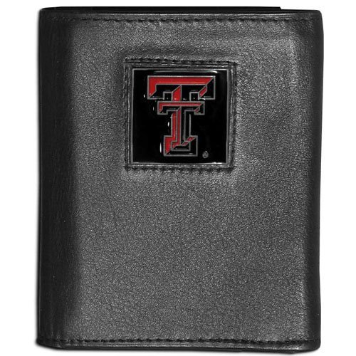 (NCAA Texas Tech Red Raiders Leather Tri-Fold Wallet)