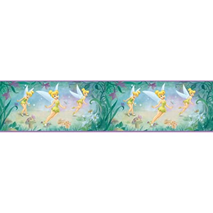 Blue Mountain Wallcoverings DS026271 Very Fairy Tinker Bell 5 Inch Self Stick Wall Border