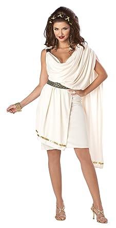 46ab8e08ce2c Amazon.com: California Costumes Women's Deluxe Classic Toga Tunic Costume:  Clothing