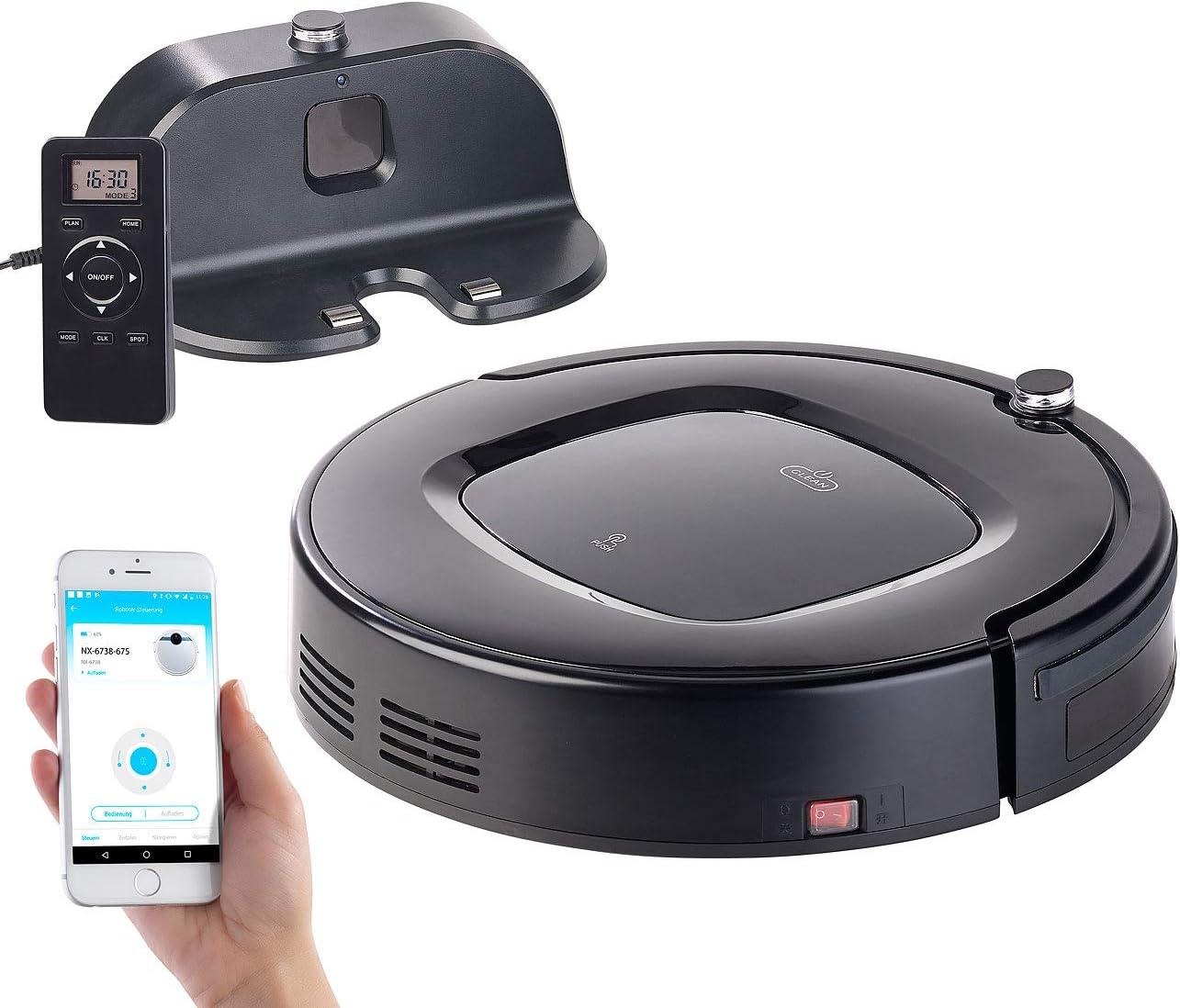 Sichler Haushaltsgeräte Selb stladender Wi-Fi Robot de limpieza con función limpiadora, temporizador & App: Amazon.es: Hogar
