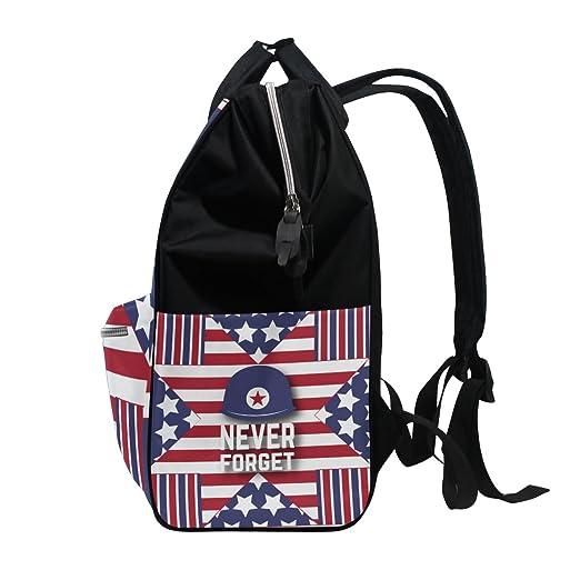 6da3c4cf494c Amazon.com : MAPOLO Happy Memorial Day Everyone Diaper Backpack ...