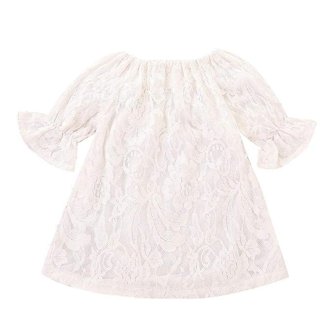 Amazon.com: KaiCran Vestido de princesa de encaje de media ...