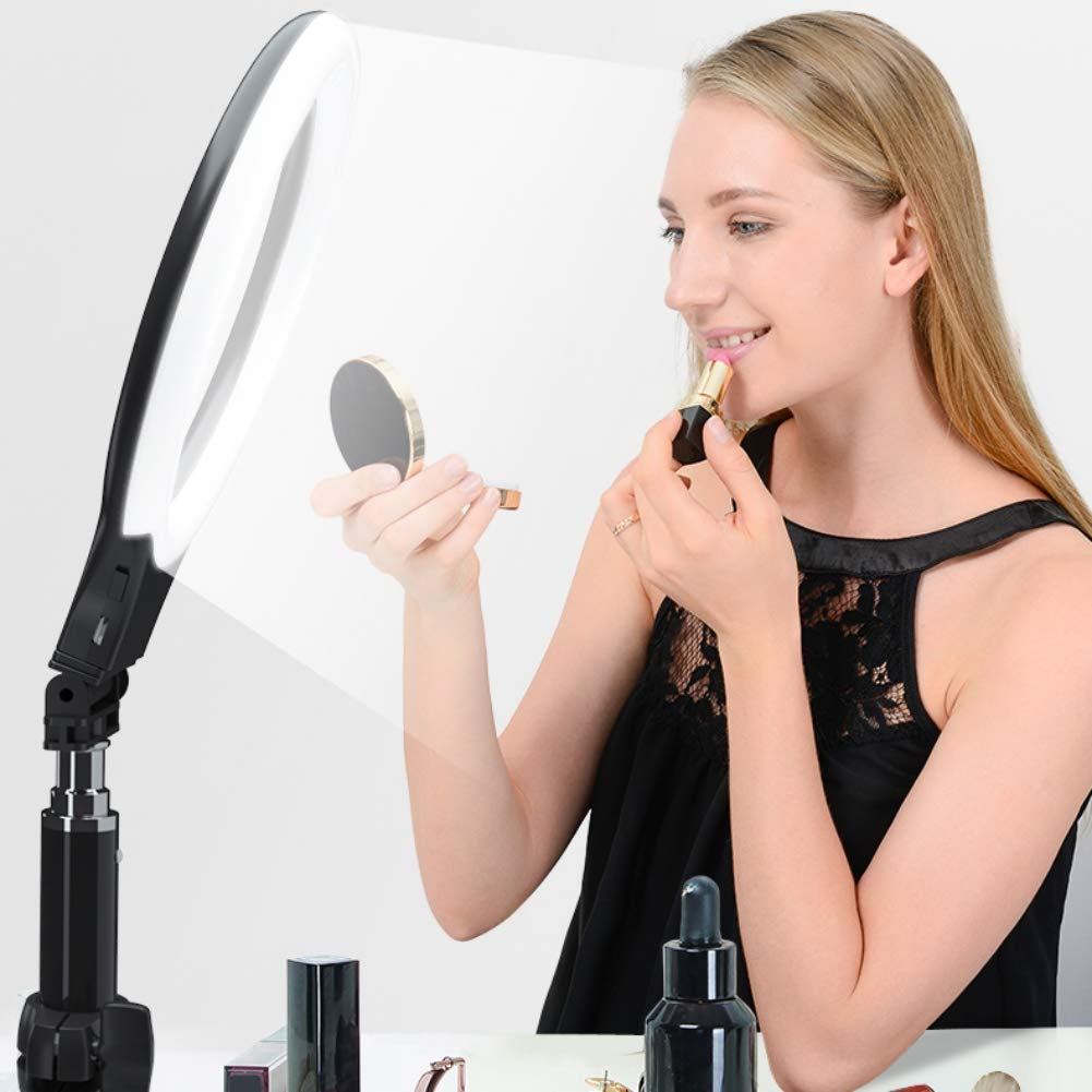 6 LED Ring Light,SUNSENT Mini LED Ring Makeup Light for YouTube Video and Makeup,Photography with 3 Light Modes
