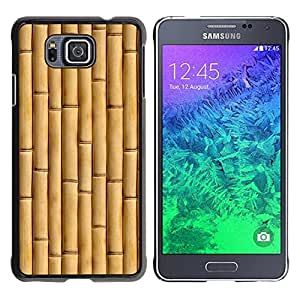 Paccase / SLIM PC / Aliminium Casa Carcasa Funda Case Cover para - Beige Natural Nature Wood - Samsung GALAXY ALPHA G850