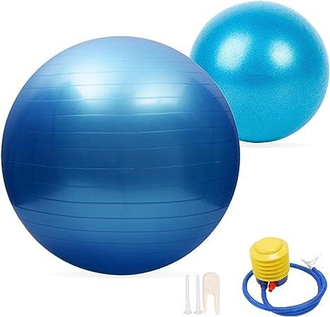 2 pelotas de ejercicio de yoga extragruesas JUFANGFIN, balón de ...
