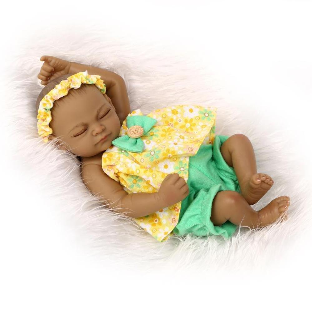 A ZBYY Reborn Baby Dolls 10 Inch 26CM Silicone Simulation Baby Doll Newborn Baby Reborn Dolls Bathe Toy,A