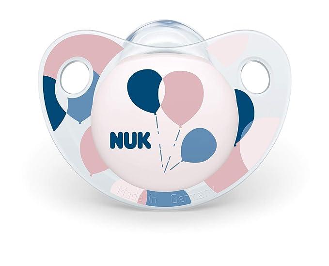 NUK 10175217 Trendline - Chupete de silicona (0-6 meses, 2 ...