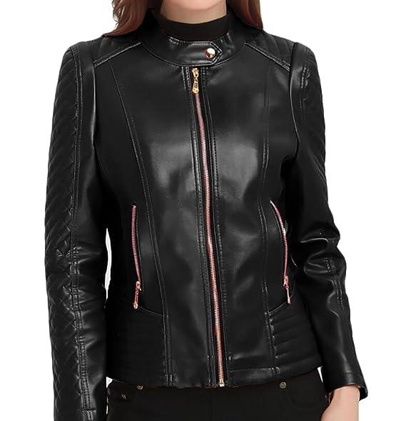 Amazon.com: pivaconis Womens Plus tamaño de piel sintética ...