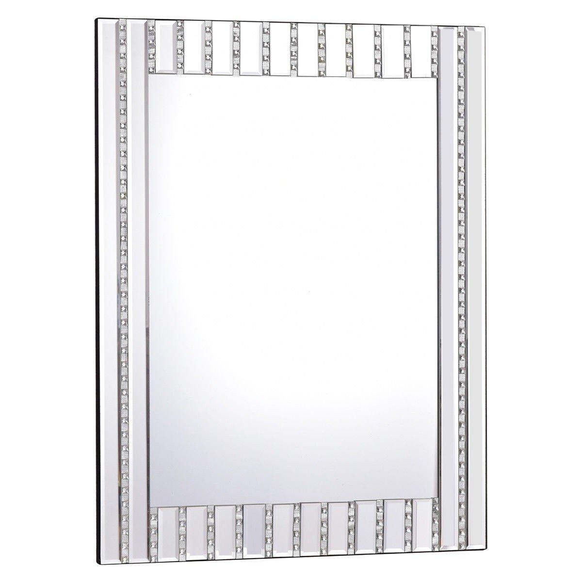 Apontus 23.5'' x 31.5'' Rectangle Wall Vanity Mirror with Resin Diamond