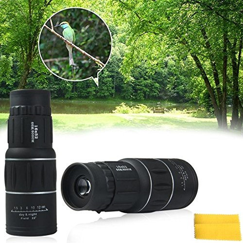 Heartte 16x52 Dual Focus Optics Zoom Monocular Telescopes,