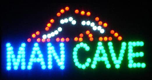 Neon LED Sign 19 X 10   Man Cave