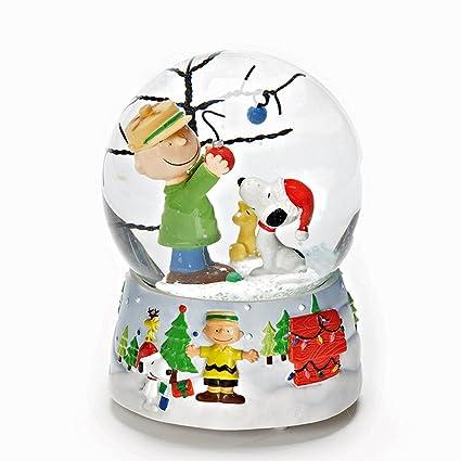 Peanuts Christmas Musical.Amazon Com Snow Globes Charlie Brown Christmas Musical