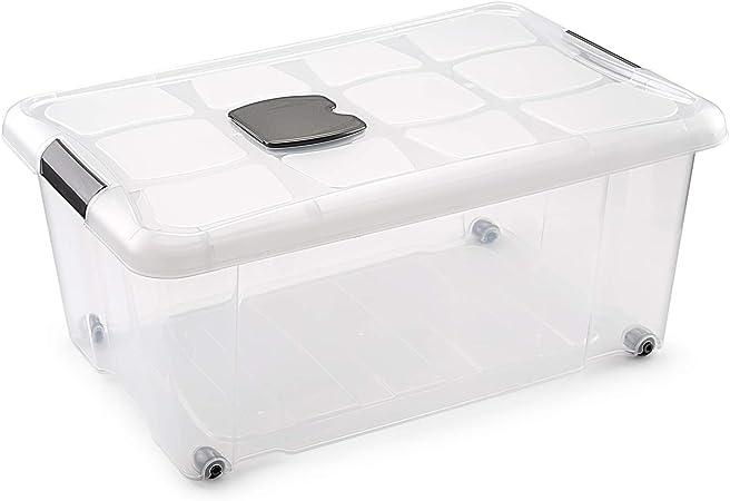Metaltex - Caja de Ordenación con Ruedas 36 L (59 x 40 x 25 cm): Amazon.es: Hogar