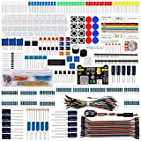 Keywish Electronics Basic Starter Kit w/Breadboard,Jumper Wires,Color Led,Resistors,Capacitor,Buzzer for Arduino UNO R3 Mega2560 Mega328 Nano (CP-SuperKit)