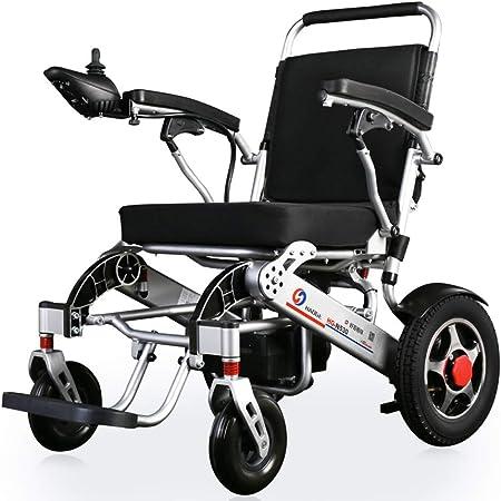 YJF Plegable y Viaje Ligero Silla de Ruedas eléctrica Sillas de Ruedas motorizadas Scooter eléctrico Silla de Movilidad de Viaje para Trabajo Pesado: Amazon.es: Hogar