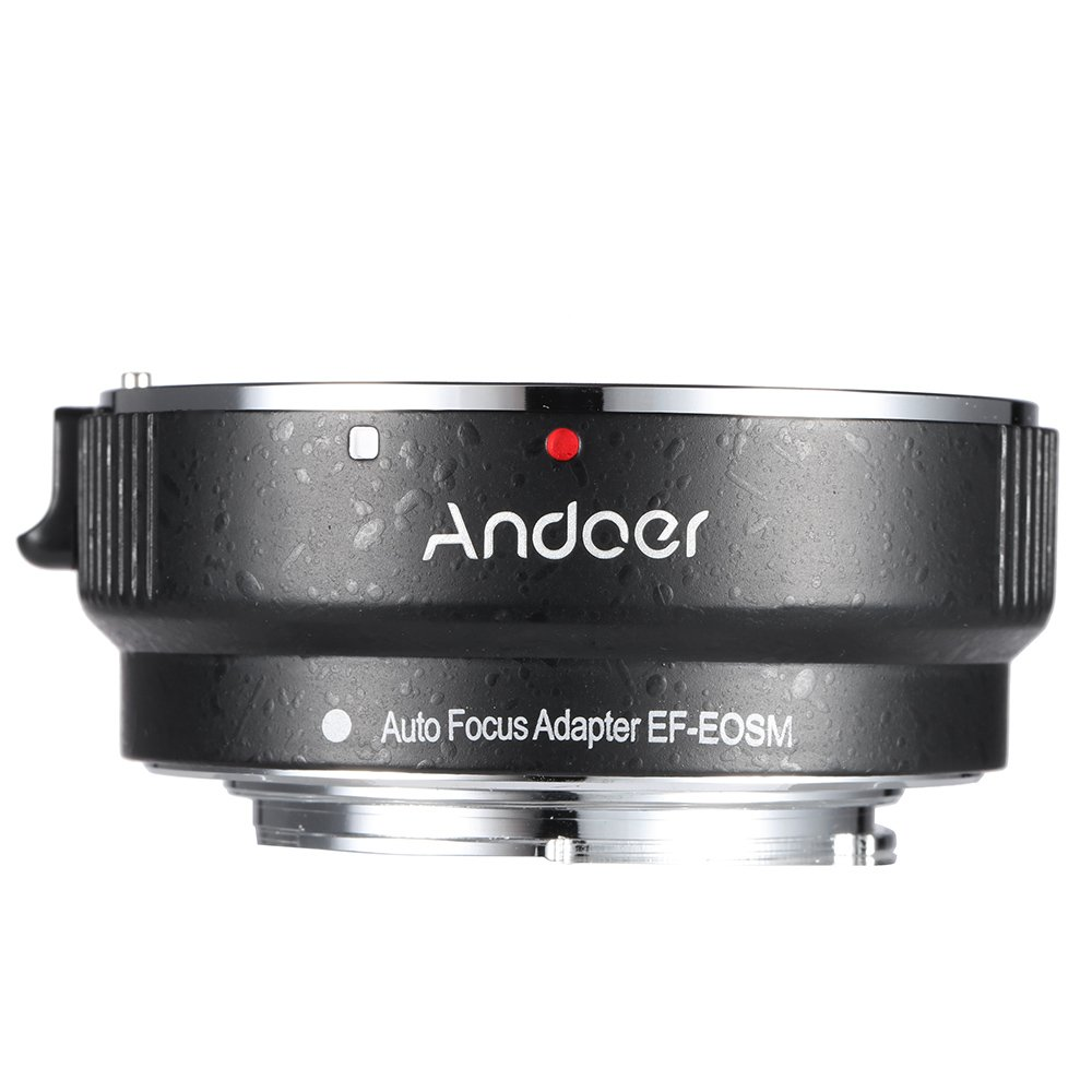 Andoer EF-EOSM Lens Mount Adapter for Canon EF/EF-S Series Lens to EOS M EF-M M2 M3 M10 Camera Body Support Image Stability Auto-Exposure Auto-Focus Auto-Aperture