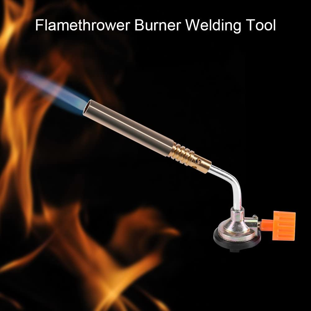 Blow Torch Butane Gas Flamethrower Burner Welding Manual Ignition Soldering-BBQ*