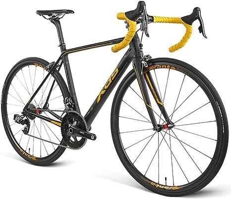 Bicicleta De Carretera RT800 Competición De Carretera De Fibra De Carbono Ultraligera Especial Bicicleta De Carreras De Velocidad De Cambio Inalámbrico Inalámbrico De 22 Velocidades,Gold-700C*25C: Amazon.es: Deportes y aire libre
