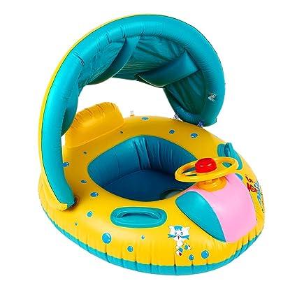 aimdonr Mode Baby Primavera Float flotador (hinchable nadar Seguridad Asiento ajustable sombrilla Asiento Barco Anillo
