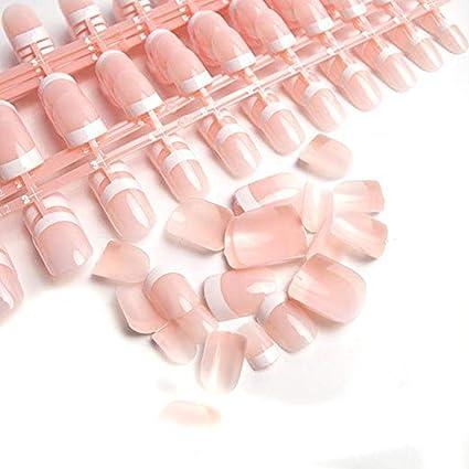 240 uñas postizas en 12 estilos distintos, uñas francesas de acrílico con estuche