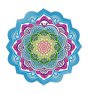 Tapis De Meditation Rond Tenture Drap De Plage 150cm Mandala Amazon
