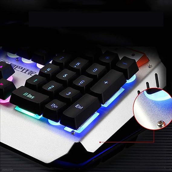 Kaiyu Teclado para Juegos con Cable Conexión USB Luz de Fondo LED Teclado con Cable Negro (Color : Orange): Amazon.es: Electrónica