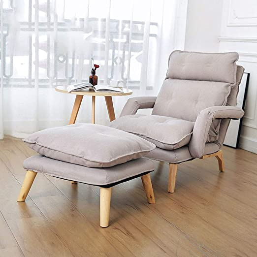 DMMW-Home Sofá Moderna Sala de Relax sillón reclinable con reposapiés Taburete otomano for la Oficina de la Sala Brown 5 Colores Sofá para Relajarse ...