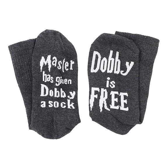 Calcetines para Mujer Hombre - Divertidos Letras Impresión Calcetines Moda y Suave Calentar Otoño Primavera Casual