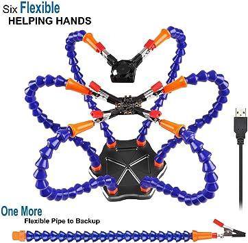 Flexibel Helfende Hände Flexible mit 5 Arme Lötstation Dritte Hand löthilfe