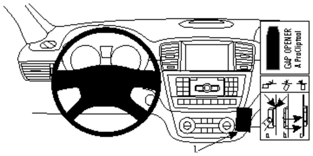 Brodit ProClip Support de fixation pour Benz M-Class/ML 12 Noir 854709