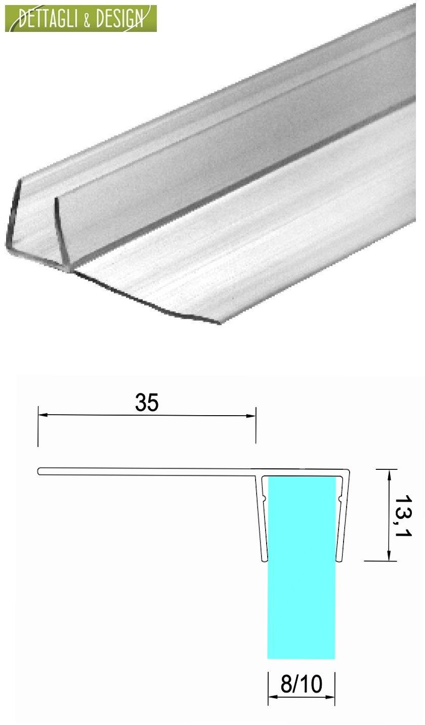 3 mt - Guarnizione box doccia con aletta morbida da 35mm per vetro 10mm Glass Com S.r.l.