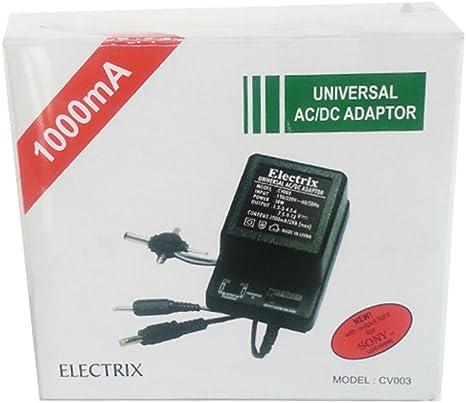 Universal Plug AC//DC 110V Adapter Battery Eliminator 300mA .3A 3//4.5//6//7.5//9//12V