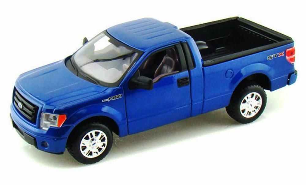 2010 Ford F-150 STX Pickup Truck, Blue - Maisto 31270 - 1/27 scale diecast model car