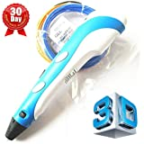 7TECH 3D Printing Pen with LCD Screen Ver.2015 light Blue by 7TECH