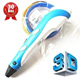 7TECH® 3D Printing Pen with LCD Screen Ver.2015 light Blue Free Spatula Included