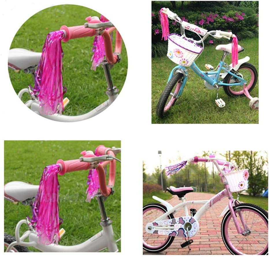 Kids Bicycle Bike Handlebar Streamers Sparkle Tassel Ribbon Decor 2PCS#LKUS