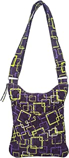 product image for Sling by Stephanie Dawn, Made in USA, Quilted Cotton Fabric, Crossbody Handbag, Adjustable Strap, Washable