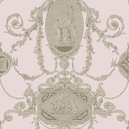 PV00203 - Regency Wall Plaques Cherubs Coral Blendworth Wallpaper (Cherub Wallpaper)