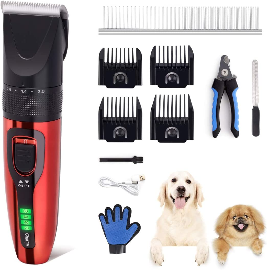 fast delivery Rolife Dog Clippers, Low Noisy Dog Grooming Kit Within Dog Grooming Record Card Template