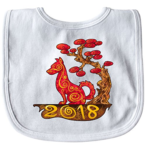 Inktastic - Year of the Dog- 2018 Baby Bib White 2dfd0