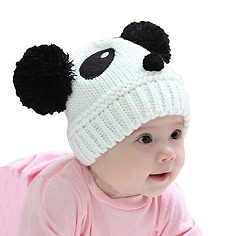 Buy Generic Red   Panda Styling Headgear Korean Styles Baby Girl Hat Dual  Ball Knit Sweater Cap Hats Winter Warm Knitted For Boys Kids Bonnet Online  at Low ... 7ee1da898b7