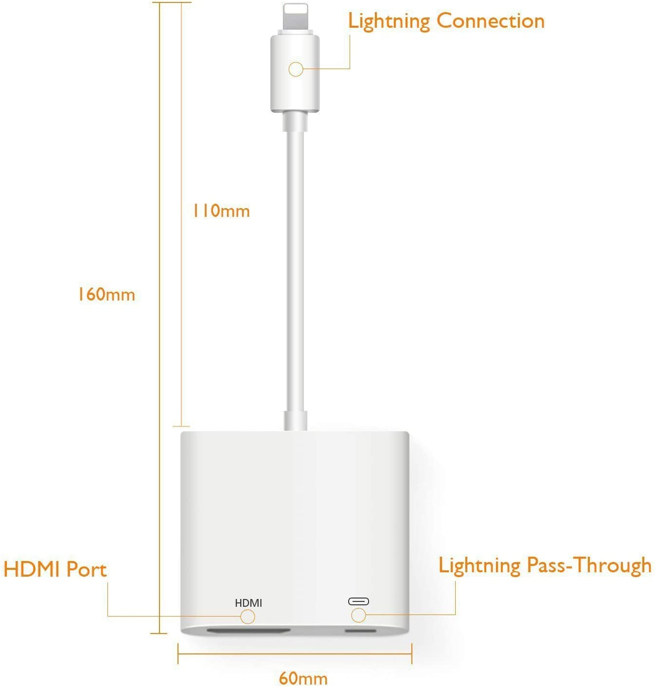 Apple MFi Certified 1080P HDMI Sync Screen Connector with Charging for iPhone 11 Pro X Xs Max Xr 7 8 Plus iPad on HDTV//Monitor//Projector Support iOS 13 Lightning to HDMI Digital Audio AV Adapter