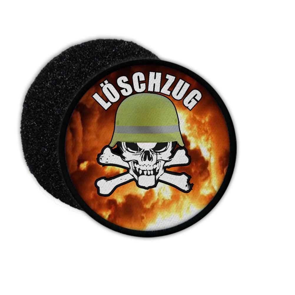 Patch Feuerwehr Lö schzug Feuerwehrmann Helm Moral Skull Feuer Freiwillige Totenschä del Flammen Beruf Held#21389 Copytec