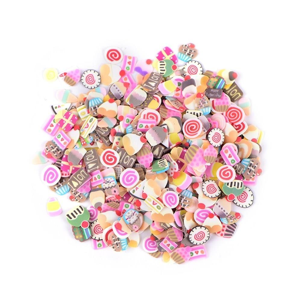 1000 Pieces Fruit Pattern Slices Polymer Clay Slices Fruit Fimo Slices for Slime Making DIY Crafts Nail Art Decorations Supplies (Style 2) maryy call me